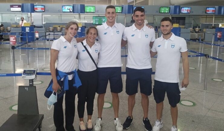 Greek swimmers fly out for Tokyo Olympics 16
