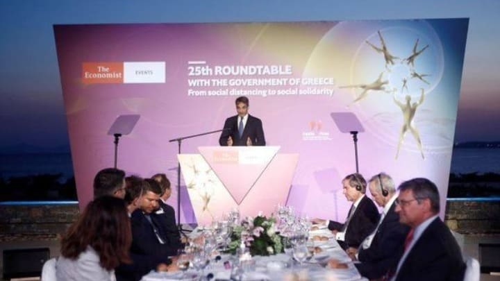 PM Mitsotakis at Economist conference: 'Extremely optimistic about Greece's economy' 1