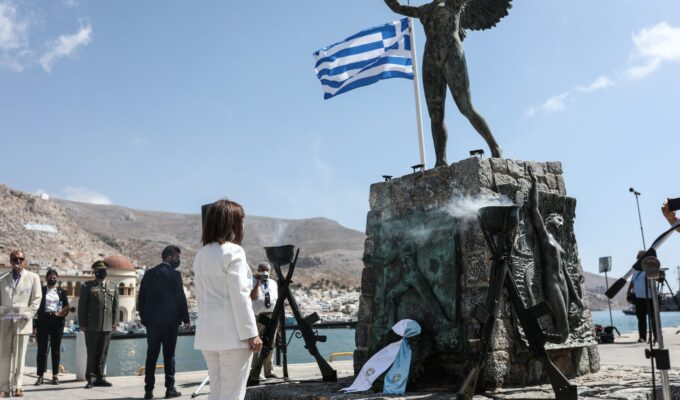 KALYMNOS: Greek President honours naval victory that saw defeat of Ottomans 5