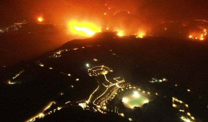 Ancient Olympia town and surrounding areas ordered to evacuate during fire 4