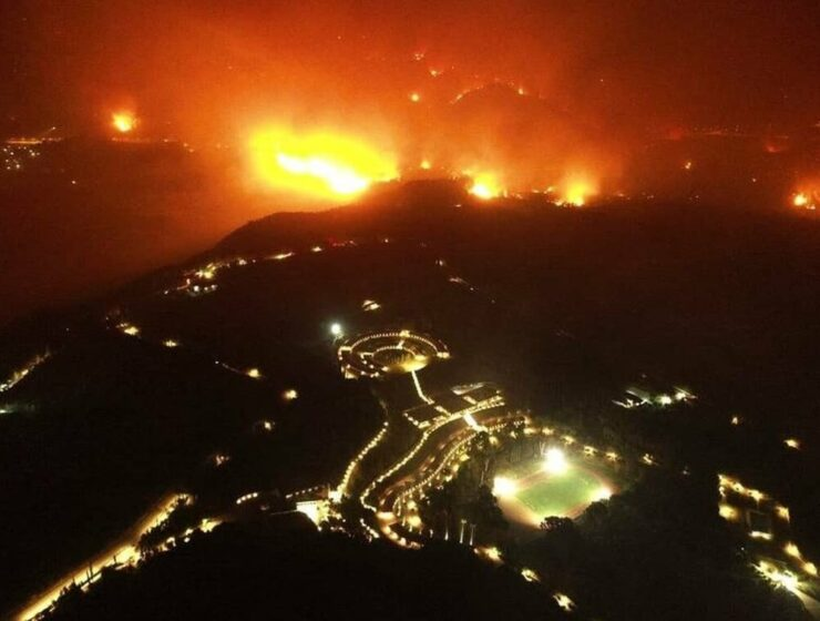 Greater Athens, Evia, Ancient Olympia still battling raging fires on Friday 2