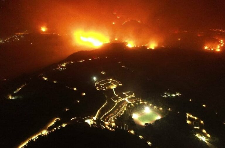 Ancient Olympia town and surrounding areas ordered to evacuate during fire