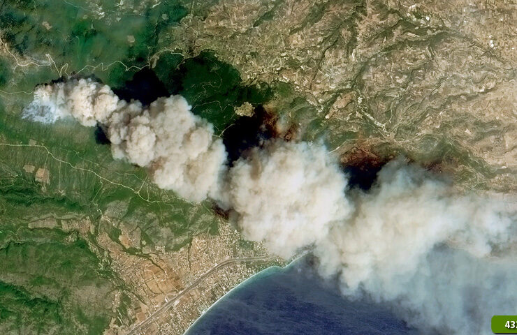 Achaia: Satellite 'sees' more than 3,000 acres destroyed by fires 1