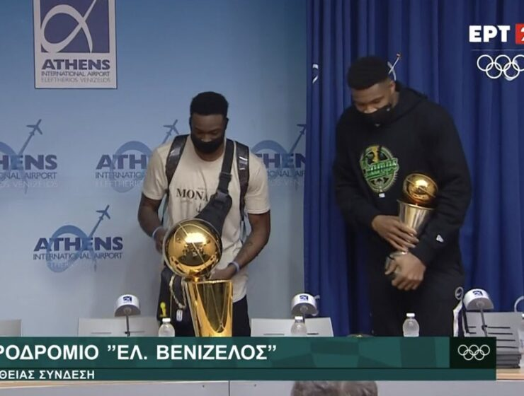 NBA champions, Giannis and Thanasis Antetokounmpo arrived in Athens, Greece 3