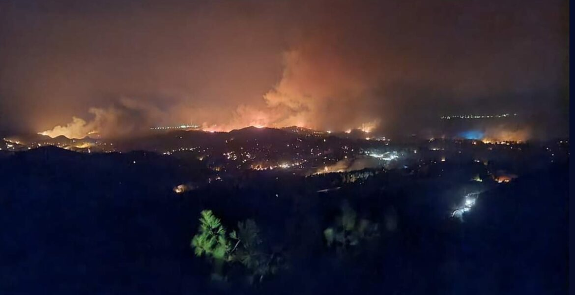 Massive fire rips through Rhodes, leaves much of the island without power and water 1