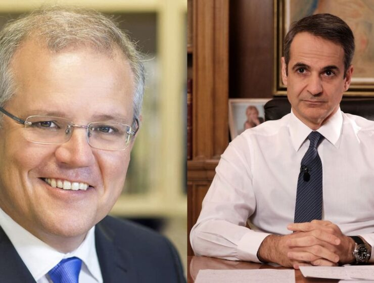 Greek and Australian Prime Ministers compare notes on pandemic 6