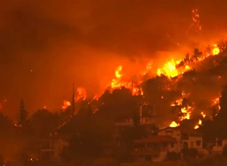What's the latest on the Greek forest fires? 4