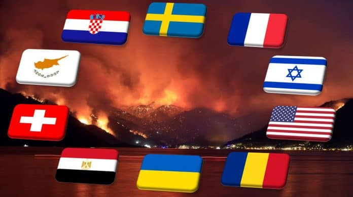 Greek President and Prime Minister thank countries helping Greece in firefighting efforts 8