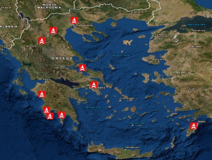 Greece: Fires destroy some 60,000 acres in 4 days 2