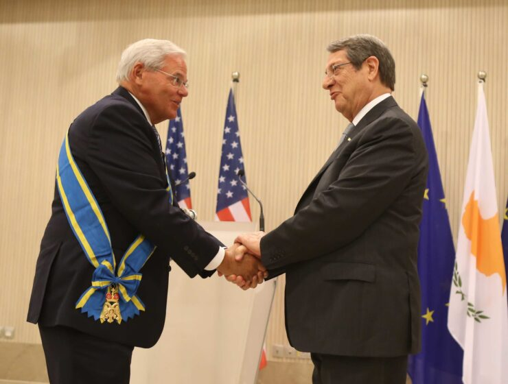 """""""MY GOAL IS TO SEE THE LAST TURKISH SOLDIER LEAVE CYPRUS"""" says Menendez as he accept highest honour 11"""