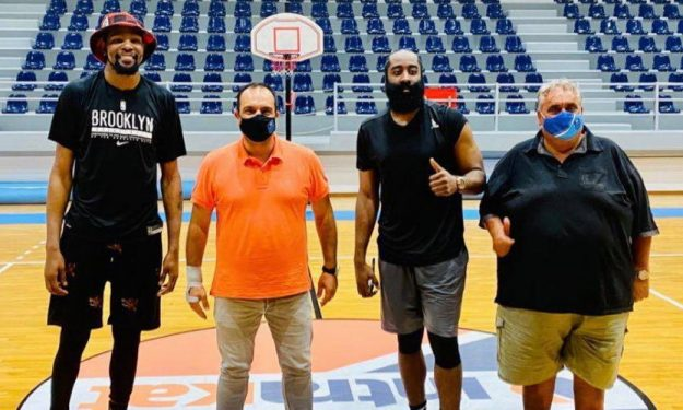 Durant, Harden still working out at gym on their Mykonos vacation 15