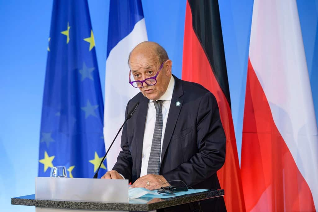 France French Foreign Minister Jean-Yves Le Drian