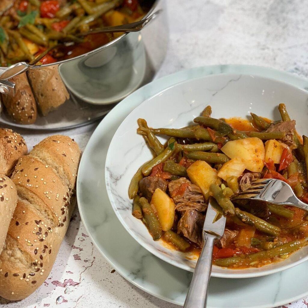 Greek green bean and beef stew