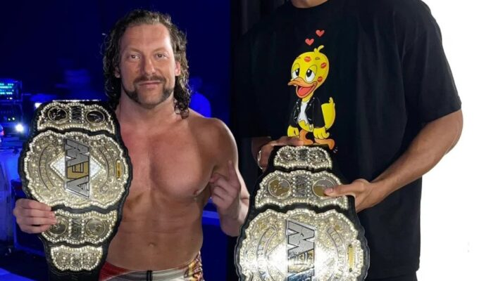 """""""Real Recognise Real"""" – Kenny Omega and Giannis Antetokounmpo Chill Together Ahead of AEW Rampage"""