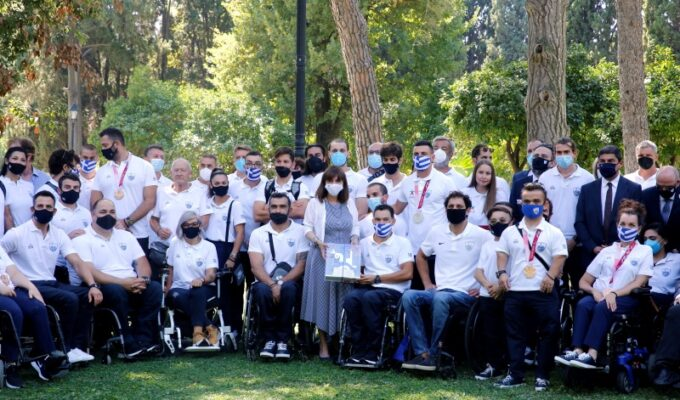 President welcomes Greek Paralympics Squad at Presidential Mansion 5